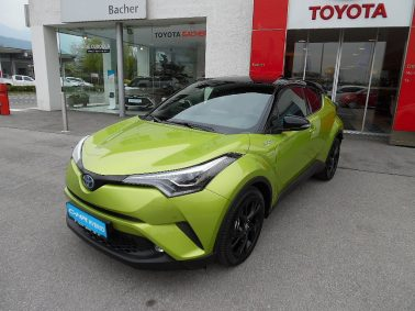 Toyota C-HR 1,8 VVT-i HYBRID C-ULT Neon Lime-Powered by JBL bei Auto Bacher GmbH in